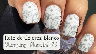 Reto de Colores Blanco - Stamping Placa BP-75