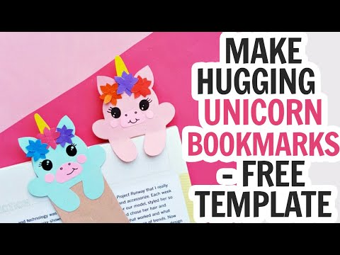 Unicorn Bookmarks Hug Style