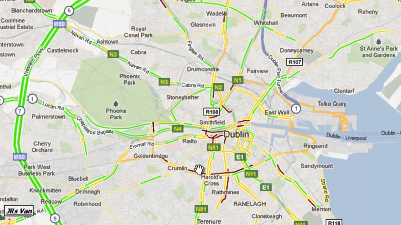 GPS vehicle tracking - Google Live Traffic