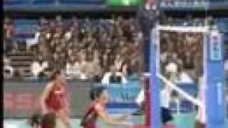 2007ワールドカップ バレーボール女子 日本1-3キューバ (25-22,29-31...