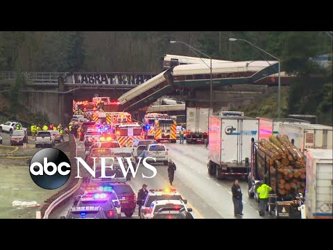Train derailment survivor describes being catapulted into seat in front of him