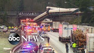 Train derailment survivor describes being catapulted into seat in front of him