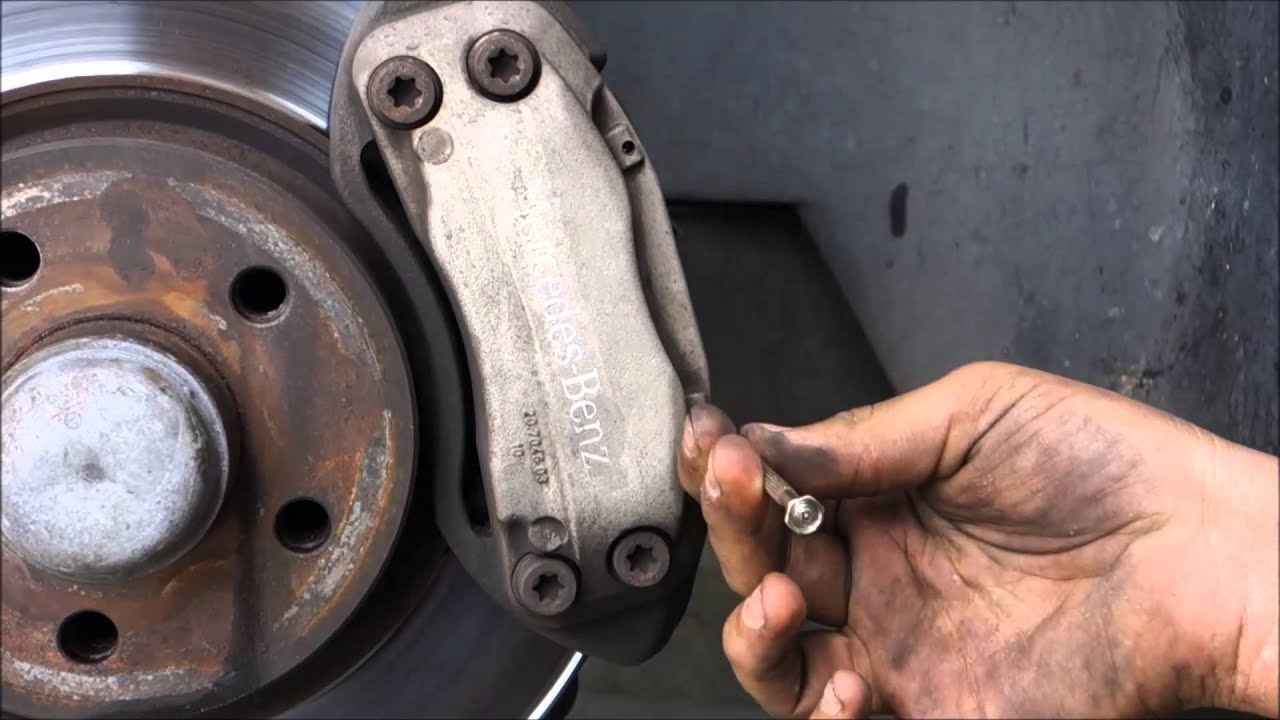 How to replace the front brake pads and rotors in a 2007 for Mercedes benz rotors replacement
