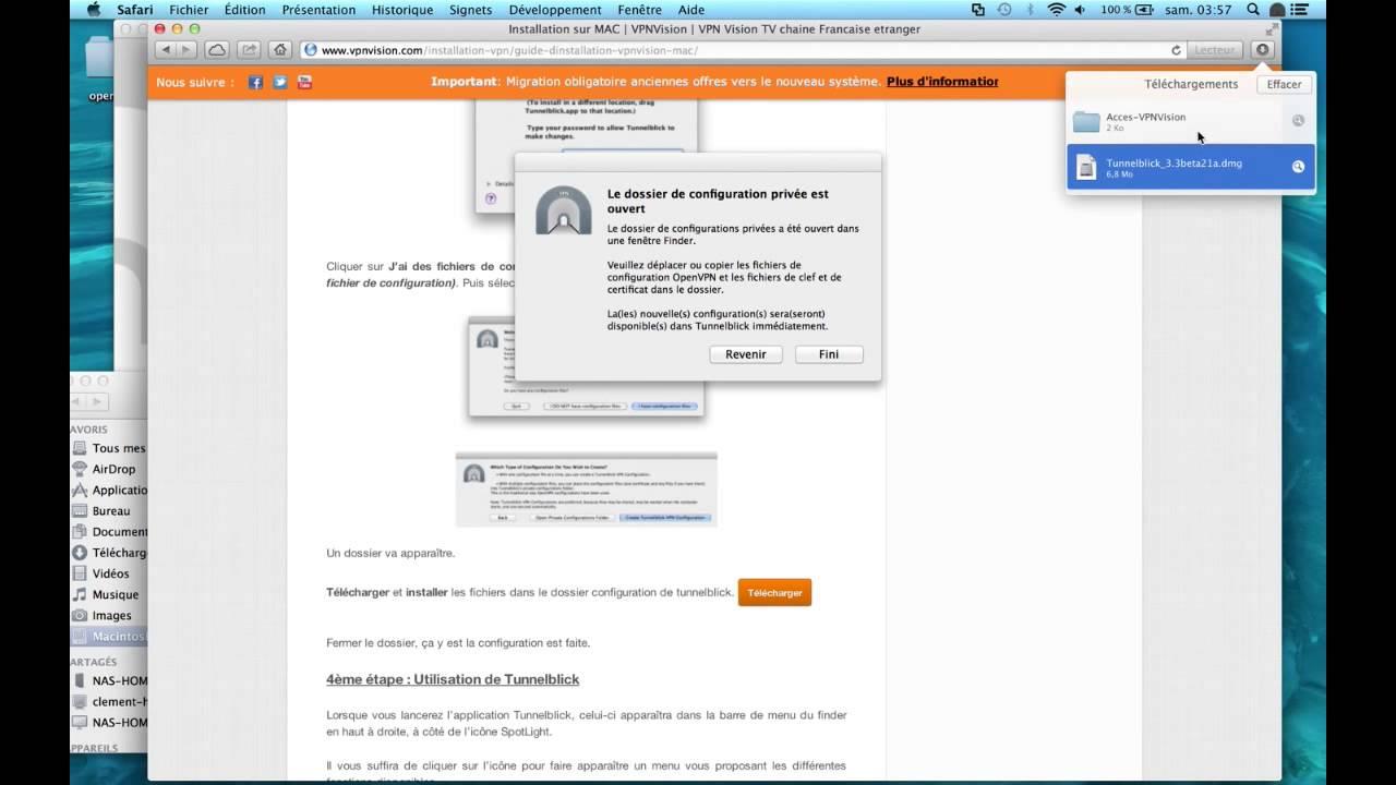 Installation d'un VPN OpenVPN sur Mac (TunnelBlick) | VPNVision