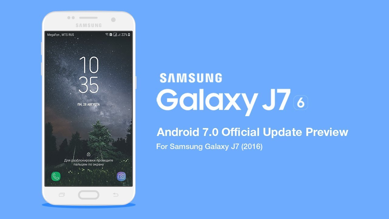 c4ca19ae32 Samsung Galaxy J7 (2016) - Official Update Android 7.0 (First Look ...