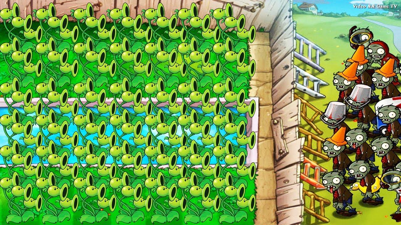 Best strategy Plants vs Zombies | Random Threepeater Set Up Protected