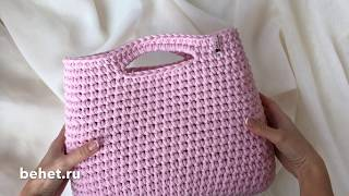 Видео-обзор сумки-тоут из трикотажной пряжи