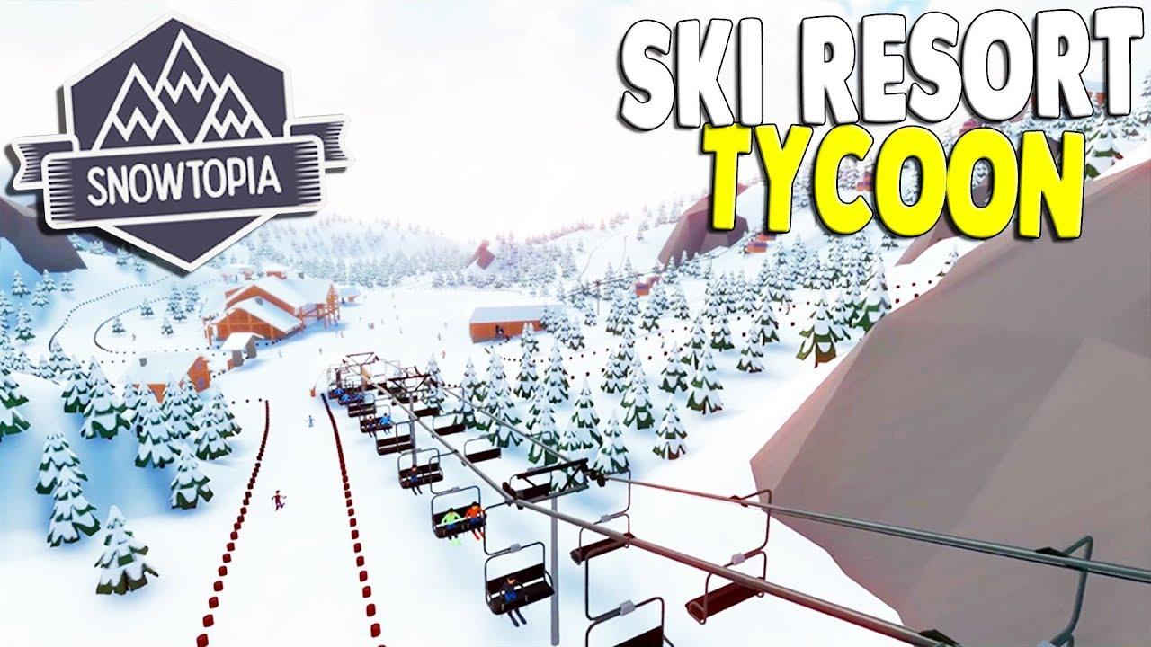 i built the ultimate ski resort & insane ski slopes   snowtopia