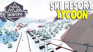 I Built the ULTIMATE SKI RESORT & Insane Ski Slopes | Snowtopia Gameplay