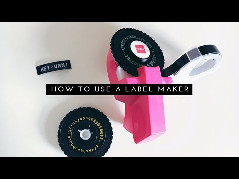 How to Use a Label Maker - YouTube