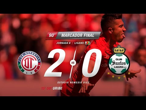 Resúmen Toluca Vs Santos J8 Clausura 2018