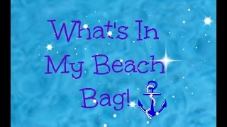 What's in my beach bag! Thumbnail