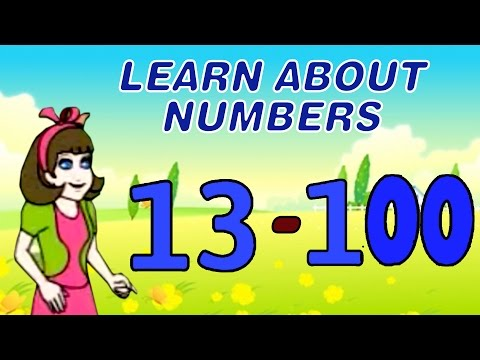 Number Made Fun 13 to 100 - Learn About Numbers