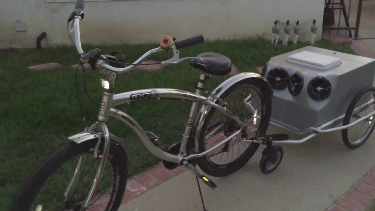 Bicycle Trailer With Stereo System Youtube