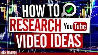 How To Research YouTube Video Ideas | YouTube Research Tools