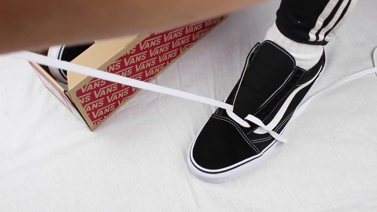 Cách buộc dây giày Vans Old skool đơn giản đẹp mê mẩn Kiza.vn