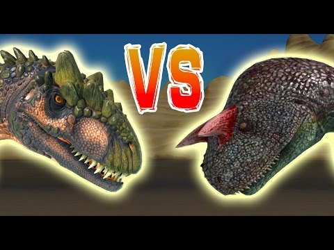 ARK | ALLO vs CARNO Allosaurus VS Carnotaurus Dino Battle Gameplay