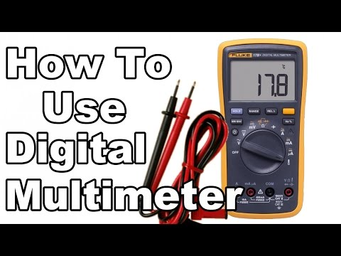How To Use Digital Multimeter - Fluke 17B+