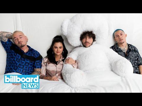Selena Gomez J Balvin Benny Blanco & Tainy Share &39;I Can&39;t Get Enough&39;    Billboard News