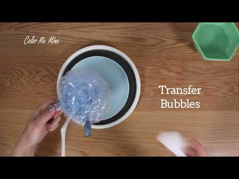 Color Me Mine Bubbles Technique
