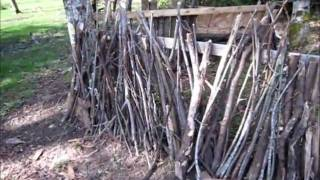 Trianglular Airsoft Fort: Two Walls Finished
