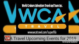 WCA Travel Upcoming Events for 2019
