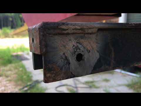 Welding and Re-Drilling an Egged Bolt Hole on Sawmill