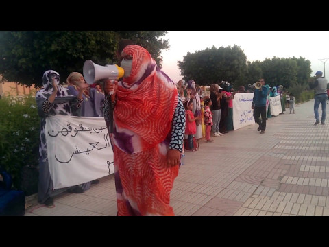 قسم الشهيد يتضامن مع النساء المعتصمات أمام ولاية جهة كليميم وادنون