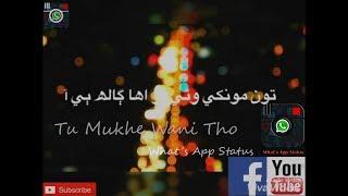 Video Ton Mokhe Wani Tho || Wazir Shah || What's App Status || Sindhi Song download MP3, 3GP, MP4, WEBM, AVI, FLV September 2018