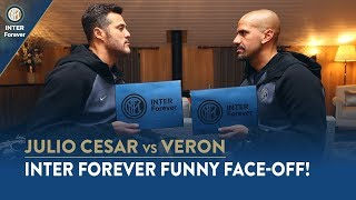 INTER FOREVER FUNNY FACE-OFF: JULIO CESAR vs VERON! 😁🇧🇷🇦🇷⚫🔵 (CC Button SUB ENG + ITA)