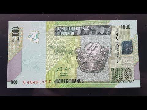 Congo 1000 Francs, Nice Banknote