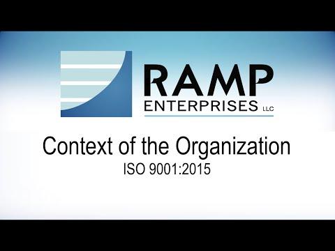 RAMP Enterprises: ISO 9001:2015 - Context of the Organization