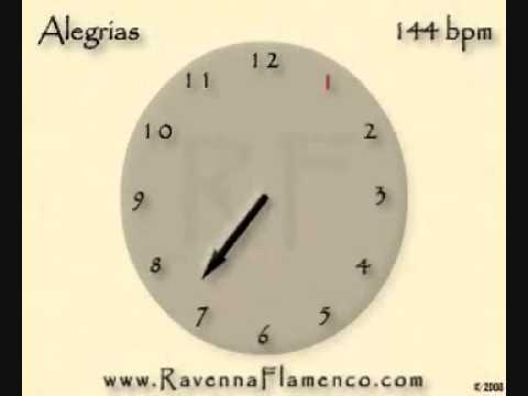 Metrónomo Flamenco por Alegrías a 144 BPM con las palmas del Potito