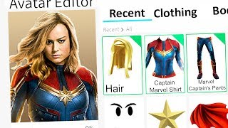 MAKING CAPTAIN MARVEL A ROBLOX ACCOUNT!!