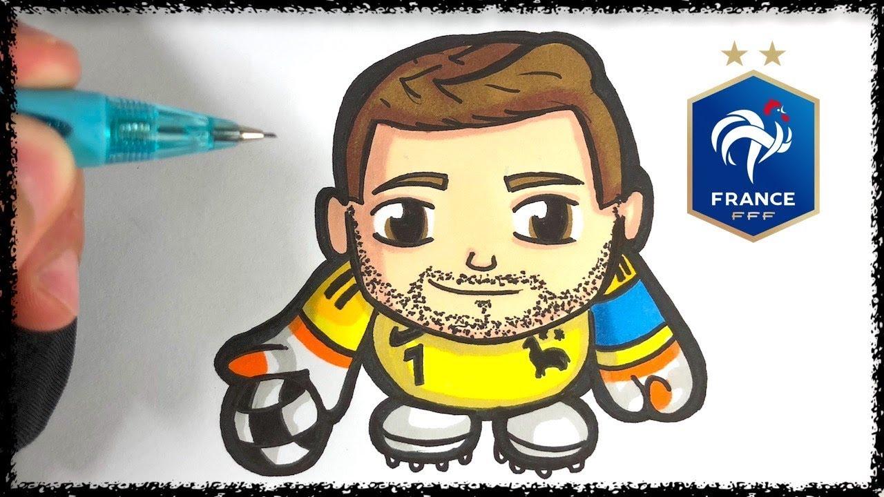 Coloriage Joueur De Foot Hugo Lloris.Baby Pop Comment Dessiner Hugo Lloris Youtube