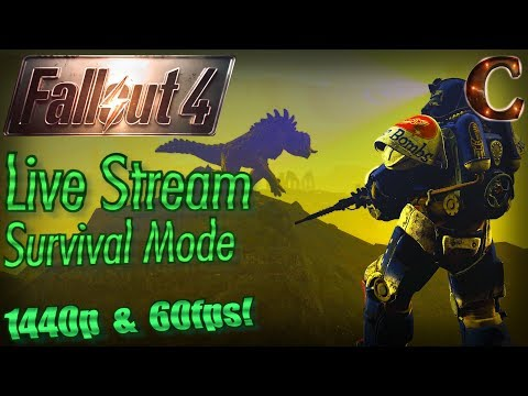 Fallout 4 Live Stream Survival Mode in 1440p 60fps, Part 35: Reaching Virgil's Cave
