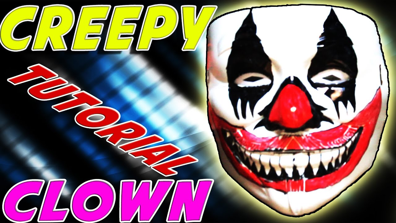 how to make a diy scary clown mask for halloween cheap and easy at home youtube