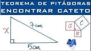 Teorema de Pitágoras | Encontrar un cateto