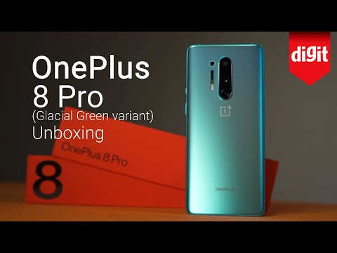 OnePlus 8 Pro Unboxing (Glacial Green Variant)