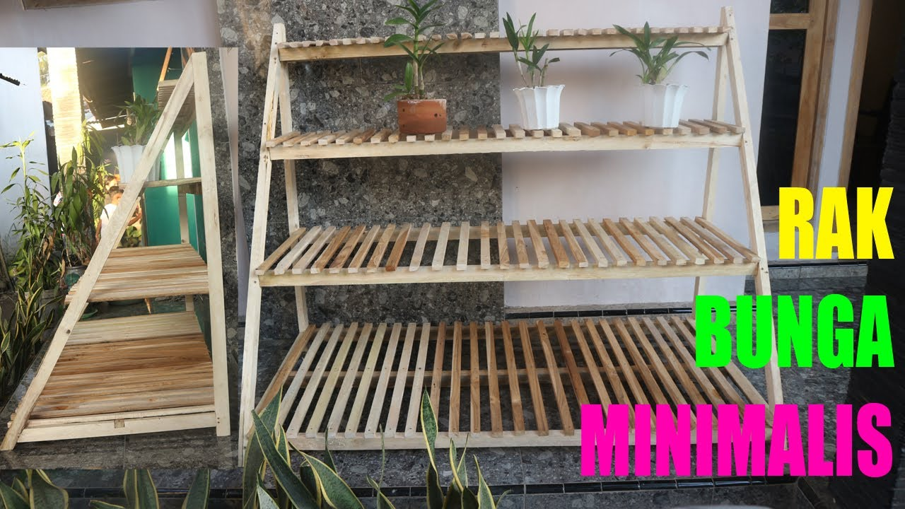 Rak Bunga Minimalis Susun 4 Dari Kayu How To Make A Wood Plant Flowers Stand Youtube