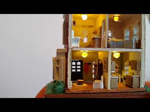 1:144 scale completed dollhouse kit