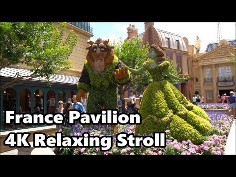 France Pavilion at Epcot | Relaxing Stroll in 4K | Walt Disney World 2018