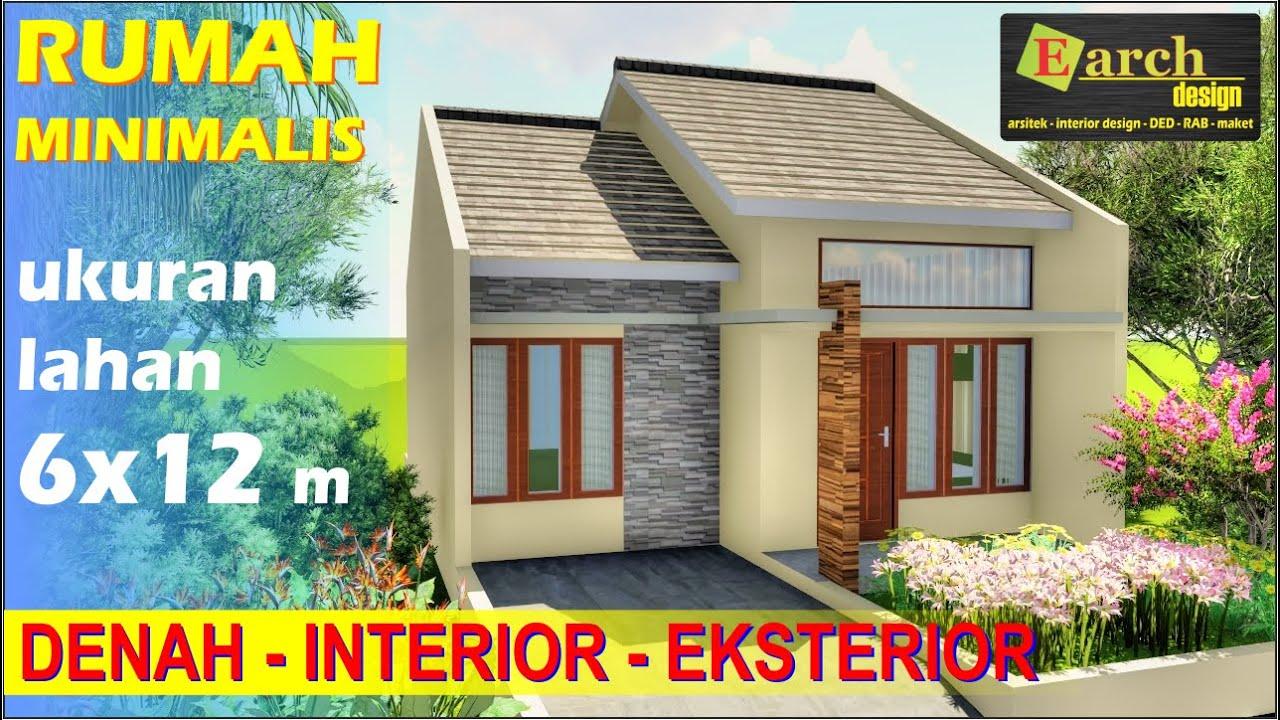 Desain Rumah Minimalis Type 36 lahan 6x12 meter dengan 2 ...