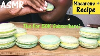 ASMR 50K SUBSCRIBERS 🎉 Macarons Recipe and Eating Sounds No Talking