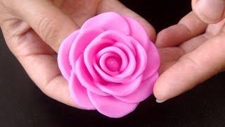 How to Make a Fondant Rose, 17 Petals / Větší dortová růže postup