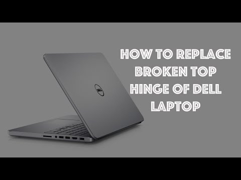 how to fix broken dell laptop hinge top & disassemble