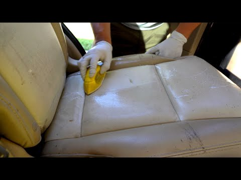 Deep Cleaning  A Teachers 12-Year Old Car Interior | Leather Seat Cleaning