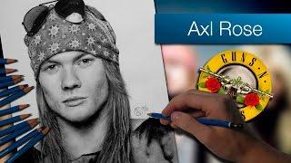Axl Rose | Dibujo a lápiz | Speed Drawing