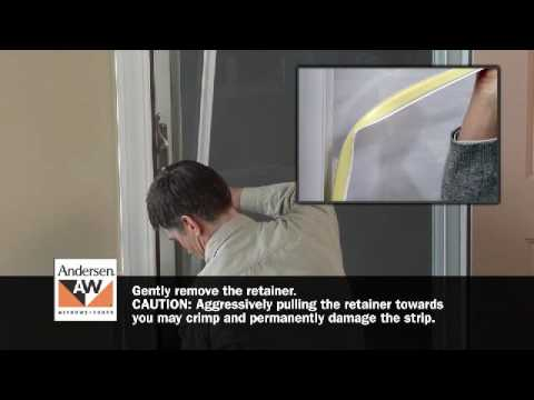 How To Switch Storm Door Glass Or Insect Screen Retainer   YouTube