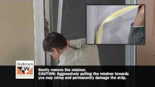 How To Switch Storm Door Glass Or Insect Screen Retainer